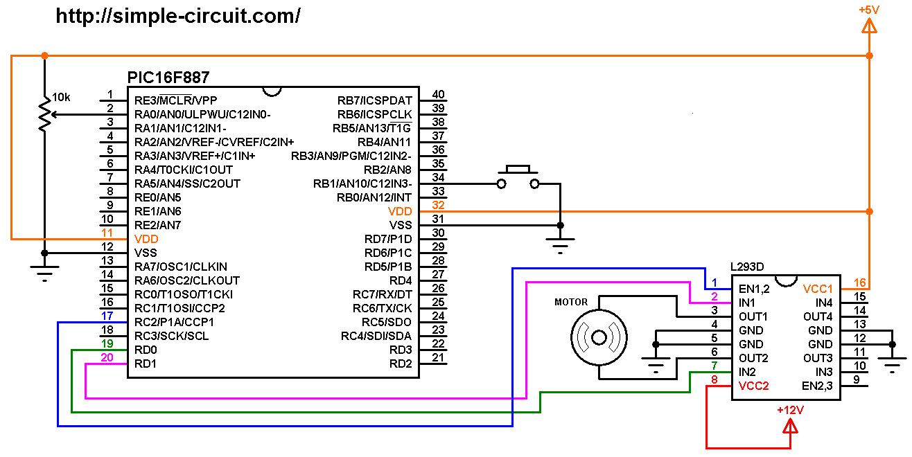 Dc Motor Forward Reverse Control Circuit Diagram Motor Control