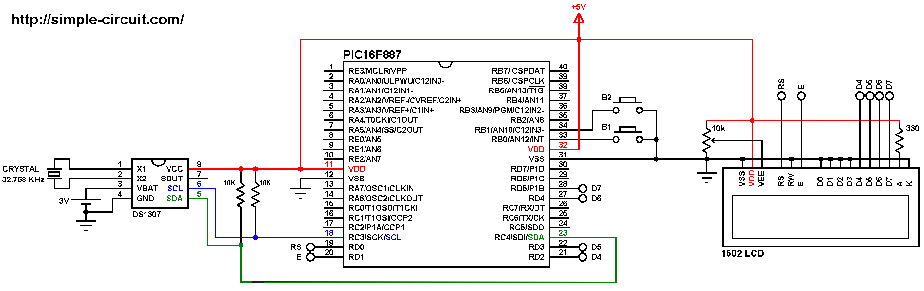 Interfacing DS1307/DS3231 RTC with PIC MCU | MPLAB Projects