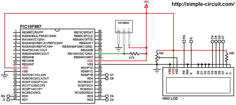 Interfacing DS18B20 sensor with PIC microcontroller   MPLAB