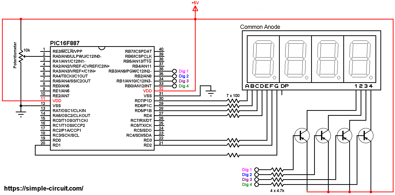 Print ADC Values on 7-Segment Display with PIC MCU | mikroC ... on