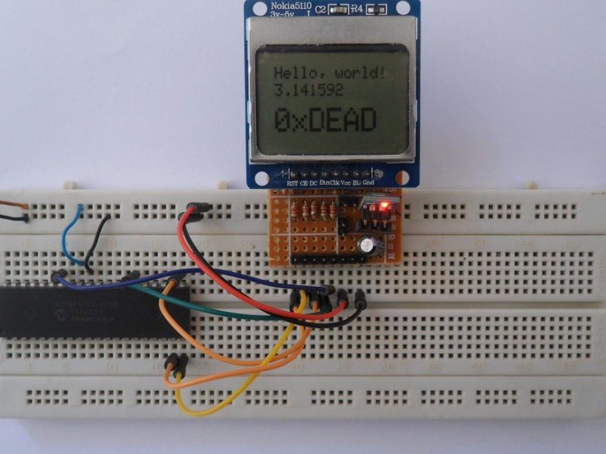 PIC18F4550 MCU with Nokia 5110 LCD