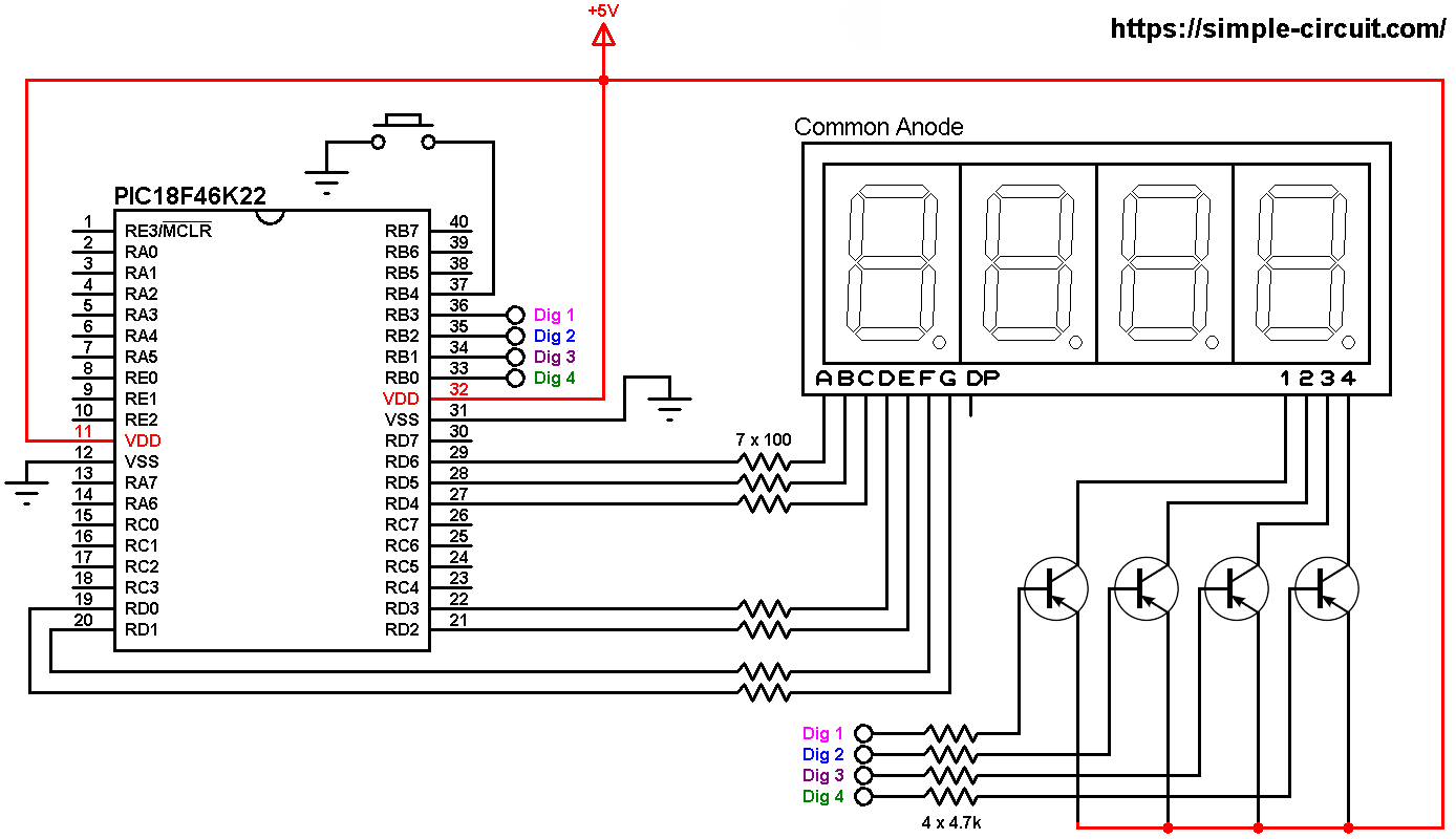 Seven7segment Counter Circuit With Led Displaydiagram And Schematic
