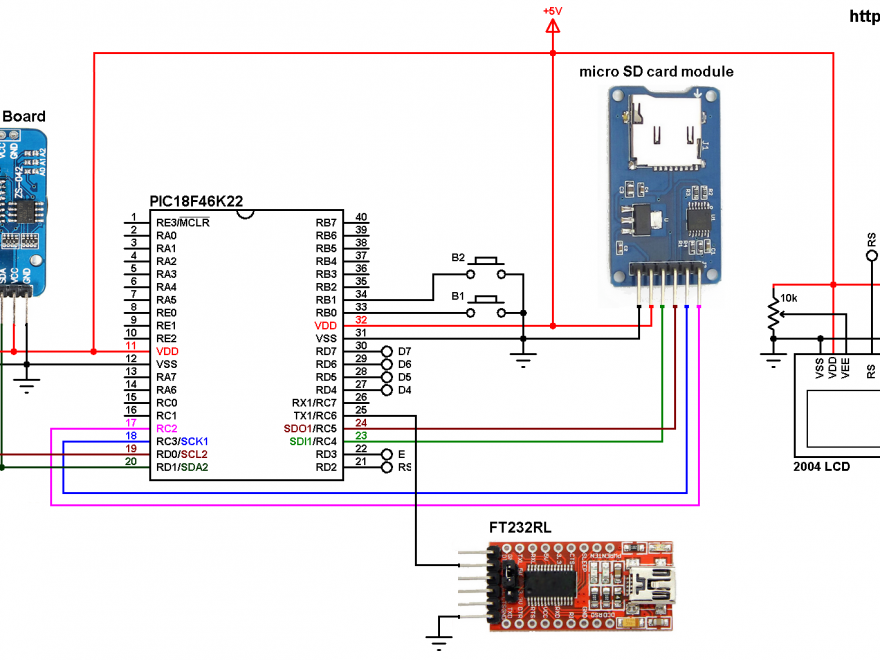BME280 data logger with PIC18F46K22 and SD card