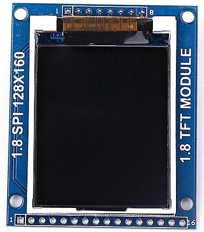 ST7735S SPI TFT display face