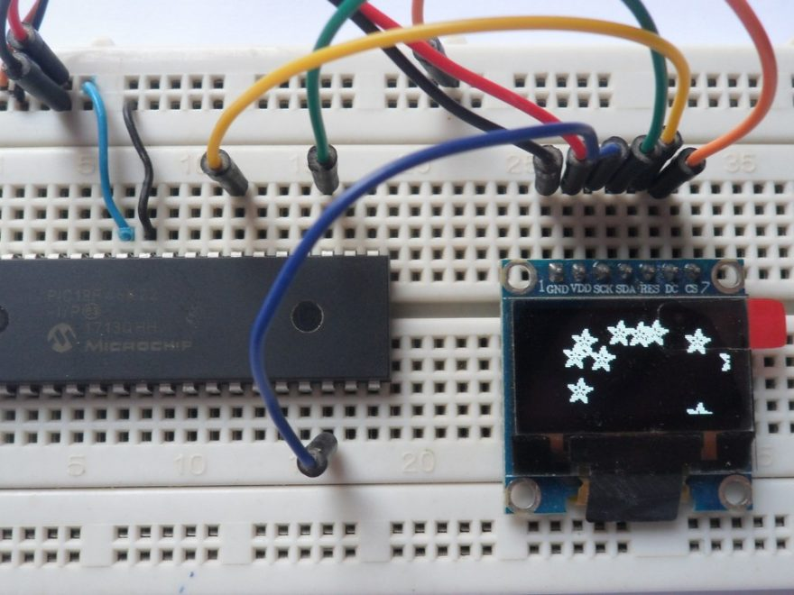 PIC18F46K22 with SSD1306 OLED I2C mode interfacing