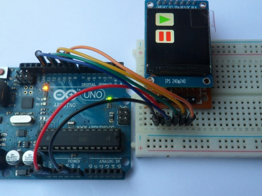 Arduino uno with ST7789 IPS TFT display