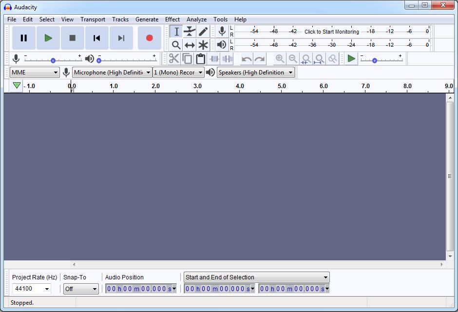 Audacity audio converter