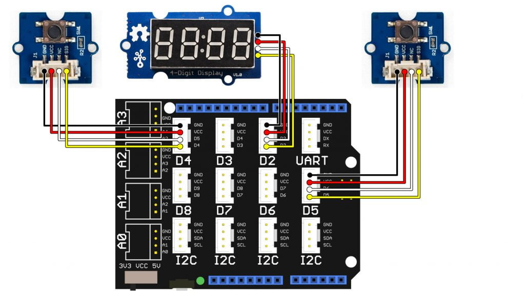 Arduino up/down counter with SeeedStudio Grove modules