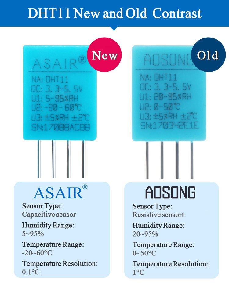DHT11 ASAIR VS AOSONG