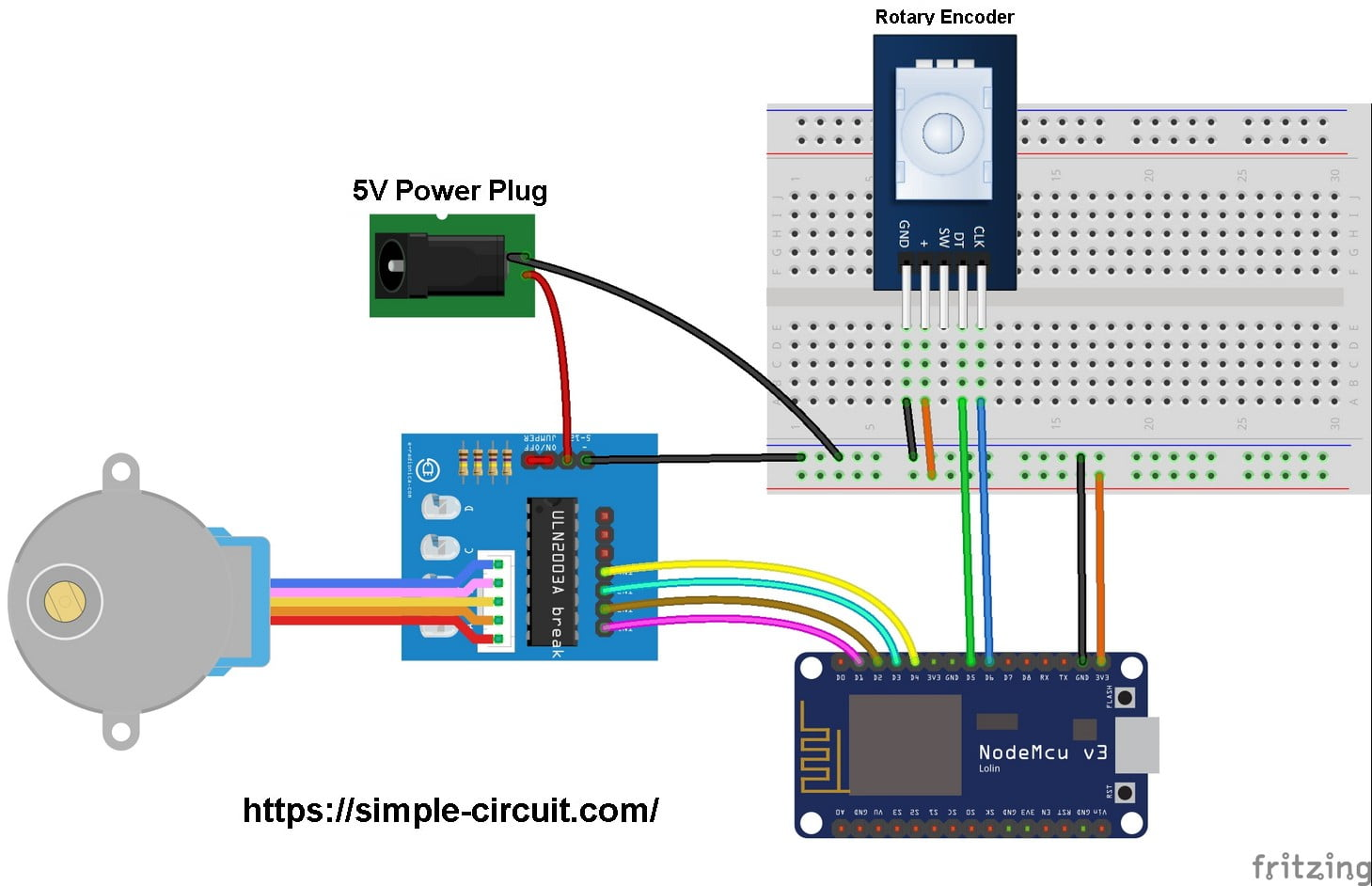 Stepper Motor Control with ESP8266 NodeMCU - Simple Projects