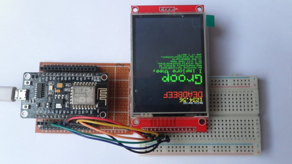 ESP8266 NodeMCU with ILI9341 SPI color TFT