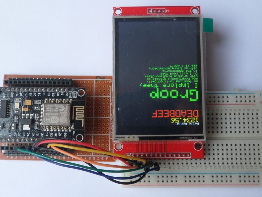 ESP8266 NodeMCU with ILI9341 SPI color TFT