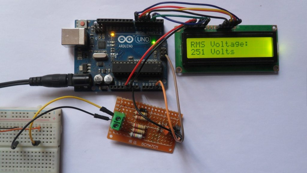 Arduino AC voltage RMS value hardware circuit