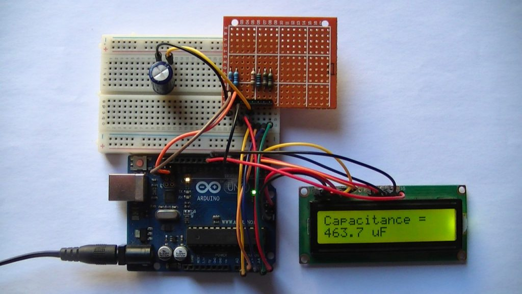 Capacitance meter with Arduino uno