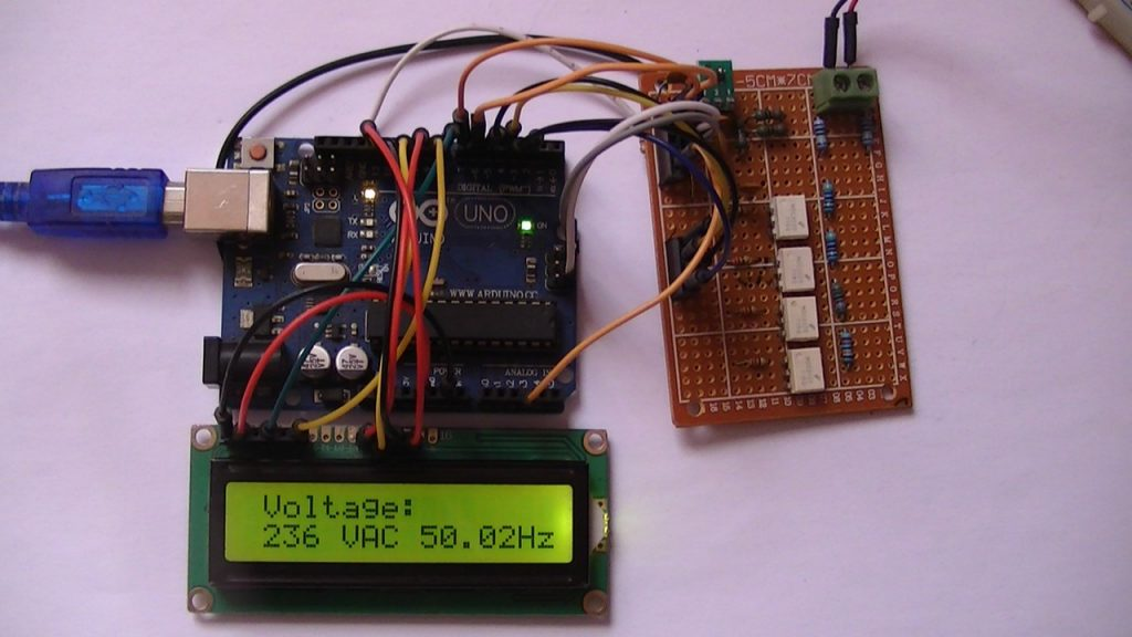 Arduino TRMS voltmeter auto-range AC DC