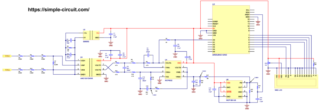 Isolated voltage measurement with Arduino and AMC1301