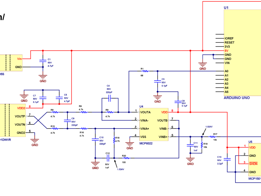 Isolated voltage measurement with Arduino AMC1301