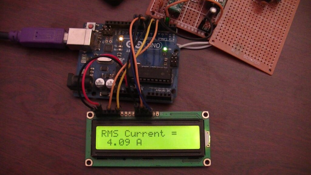 Arduino current measurement hardware circuit