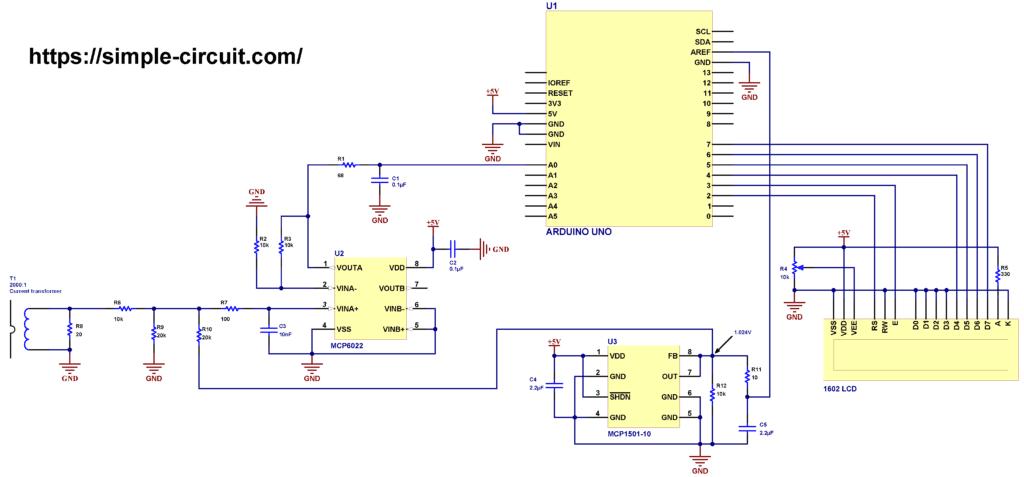 Interfacing Arduino with current transformer CT 2000:1 ratio circuit