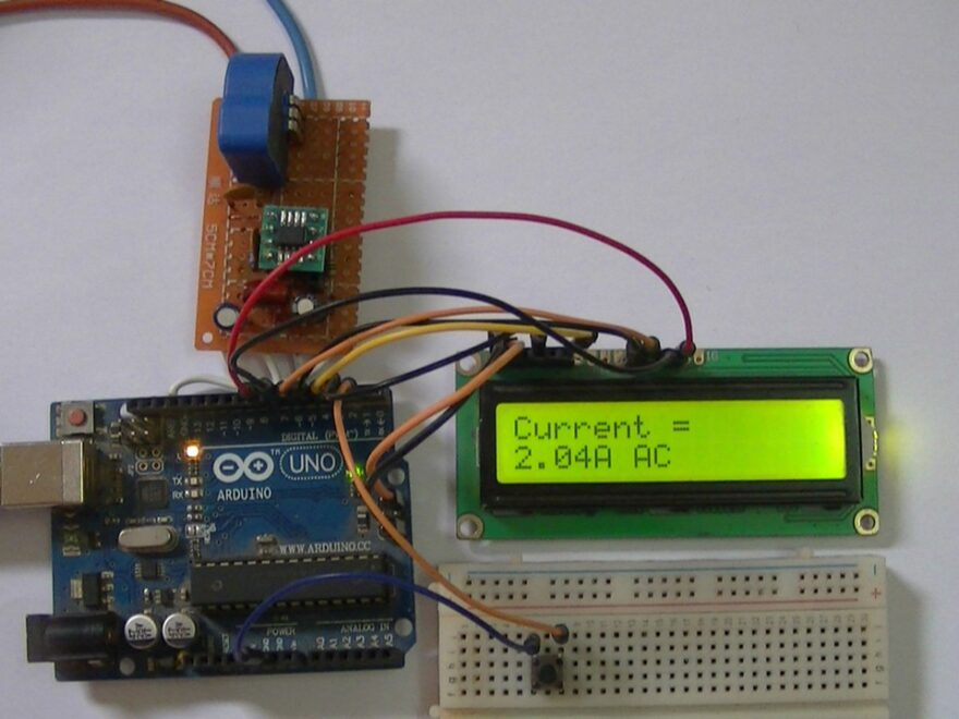 DIY circuit for Arduino uno and LTSR 25-NP current sensor